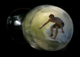 Surfer In Glass