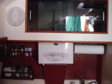 water heater in galley