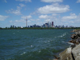 Toronto Islands & downtown from the Spit