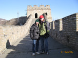 zevi barth and sammy on the Great Wall of China