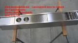 canale attrezzato inox vasca e accessori su misura