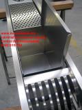 scolapiatti canale attrezzato in acciaio inox satinato su misura