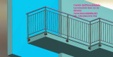 Balaustra inox su misura per balcone appartamento