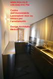 Cucina in acciaio inox su disegno dell'architetto Melloni - Svizzera