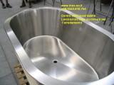 Vasca da bagno in acciaio inox costruita su misura su disegno del cliente