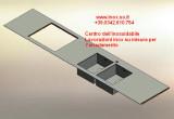Top piani cucina in acciaio inox disegnati su misura