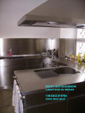 cucina in aciaio inossidabile satinato arredamento su misura inox