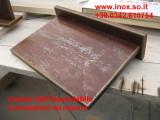 Mensola rivestita su misura con  metallo  ferro corten