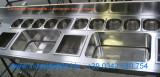 work station piano acciaio inox bar lavandino su misura Lecco e Como
