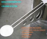 supporto inox per cristallo tagliato al laser su misura