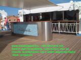 Mobile bar inox aisi 316 per ponte nave da crociera