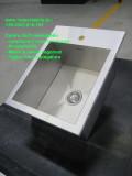 Lavello in acciaio inox satinato creato a misura del cliente