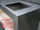 Mobile inox arredo cucina in acciaio inox e compensato marino