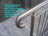 Parapetto su misura  in acciaio inox satinato