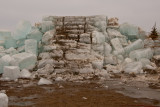 Ruins of the 2009 Spicer WinterFest Ice Castle ~  February 17