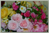 Bouquet of old world roses