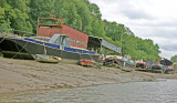Houseboats moored on Isleworth Ait