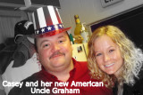 Casey and her new AMerican Uncle Graham!