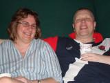 Jon and Karen relax at Disneyquest