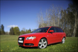 Audi with lens tilted