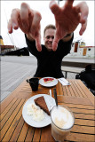Björn lusting for my cake