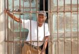Waiting behind bars...