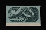 touching nirvana (woodcut) 5.5 x 9