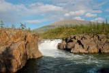 waterfall on the Yaktali river (10 meters high)