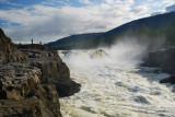 waterfall on the Kureika river (13 meters high)