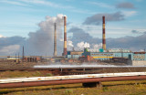 take a big breath of sulphureous acid and relax - the city of Noril'sk, Nadezhdinsky metallurgical works
