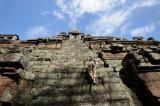 Cambodia. Angkor Thom. Phimeanakas. Climbing up