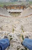 Pamukkale. Hierapolis. Roman Theatre. The only spectator