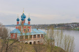 Town of Tutaev on the bank of Volga river. The Church of Transfiguration ( Kazan Virgin ) (1758)