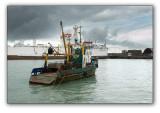 Sochi, poacher's boat in the sea port