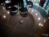 Black granite floor reflections