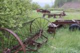 10.  Some retired farm machinery.