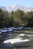6.  Looking south on Catskill Creek, 0.4 mile west of the Thruway on Route 23