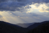 5.  Sunset from Newfound Gap road.  Note the crepuscular rays.