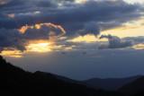 6.  A cloud on fire.
