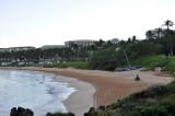 The Four Seasons rakes the beach every morning