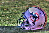 Miami Dolphins helmet in HDR