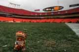 NFL Huddles: Kansas City Chiefs figure at Arrowhead Stadium in Kansas City, MO