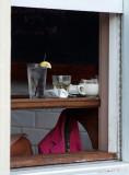 Drink in a window