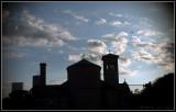 Church in silhouette
