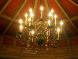 Chandelier at l'Auberge du Pont de Collonges