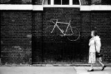 Bicycle on a fence