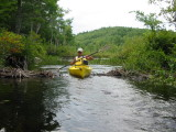 Kayaking over Secnd Beaver Dam