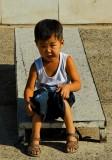 An unhappy child near Gandan Monestary