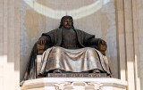 Chinggis Khaan seated at the Parliament House