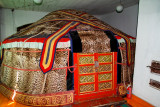 Ger covered with snow leopard pelts, Winter Palace of the Bogd Khaan